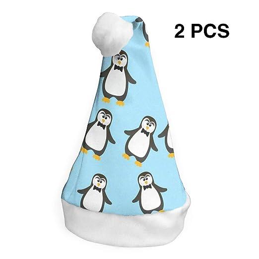 Amazon Com Lovebea Christmas Hat Cute Blue Penguins Santa