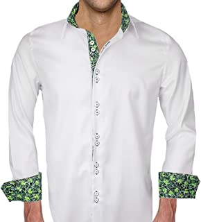 product image for Mens White St Patricks Day Dress Shirt - Made in The USA
