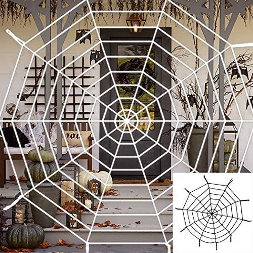 Amjaxan Halloween 2 Pack 5ft Large Spider Web