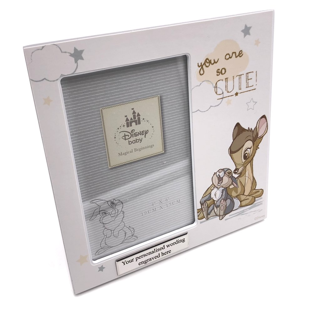 Disney Bambi and Thumper Baby Photo Frame (No Personalisation) WBL