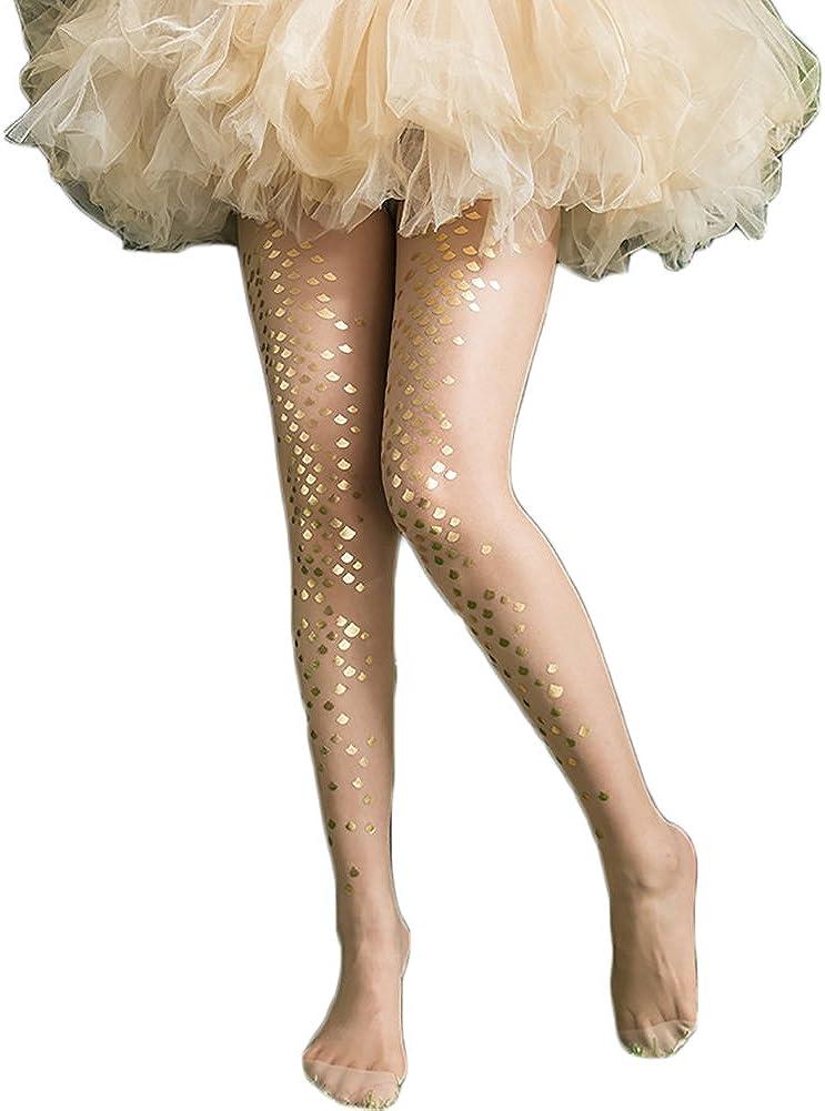 Womens Girls Mermaid Fish Scale Sparkling Tights Legging Pantyhose Stockings Magical Mermaid Socks