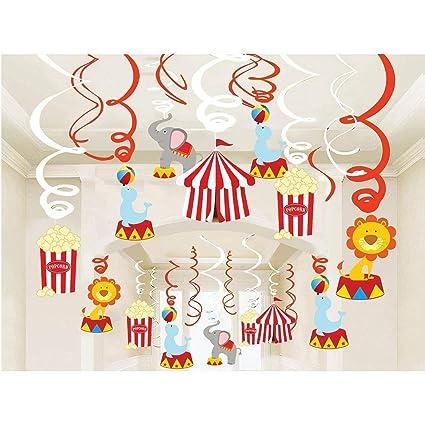 Amazoncom Kristin Paradise 30ct Carnival Hanging Swirl Decorations