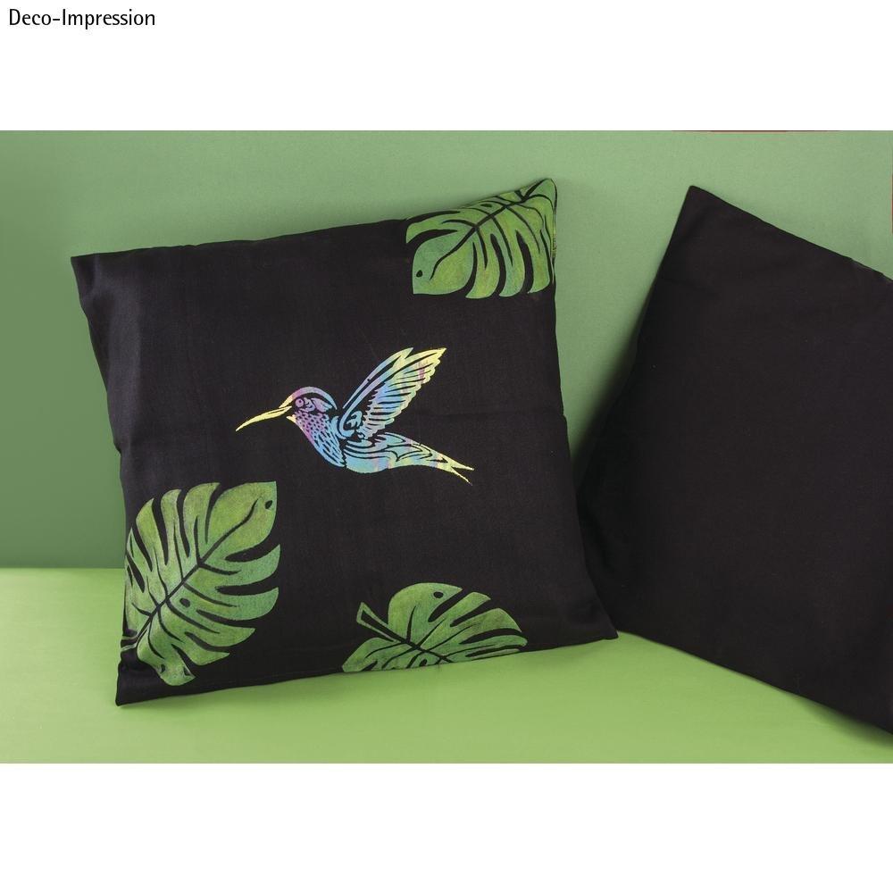 1 Schablone TROPICAL FLOWERS Sommer Blätter DIN A4 Stencils für Wand Textil EFCO