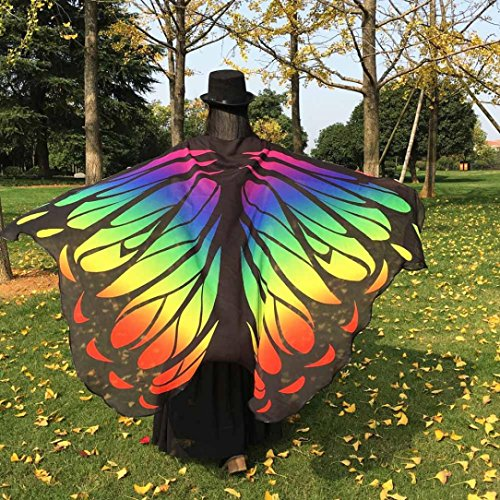 [Malltop Ladies Eye-catching Fairy Nymph Elf Soft Fabric Butterfly Peacock Wings Party Parade Event Costume] (Making Elf Costume)