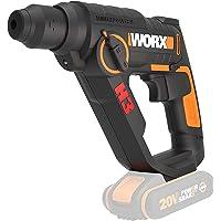 WORX WX390.9 boorhamer SDS-plus 20 V, krachtige boormachine met pneumatische hamerwerk en tweede handgreep, ideaal voor…