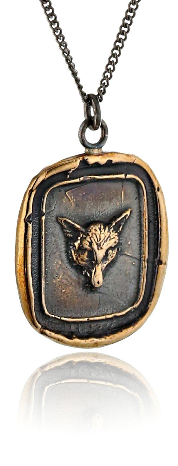 Pyrrha Bronze Fox Talisman Necklace