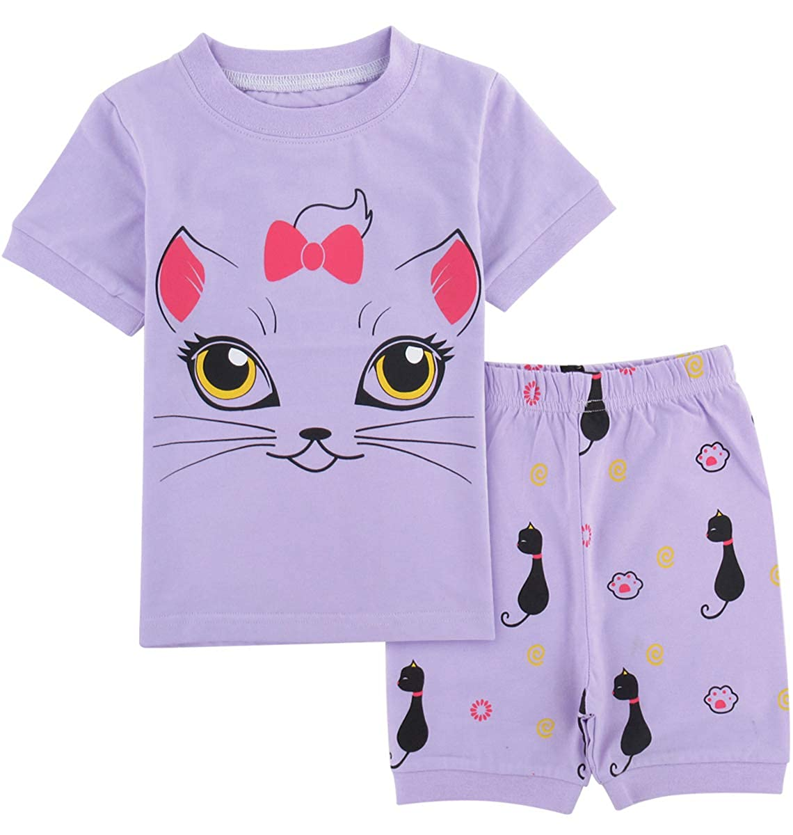 Mombebe Niña Pijamas Unicornio Infantil Verano Ropa Chica Manga Corta: Amazon.es: Ropa y accesorios