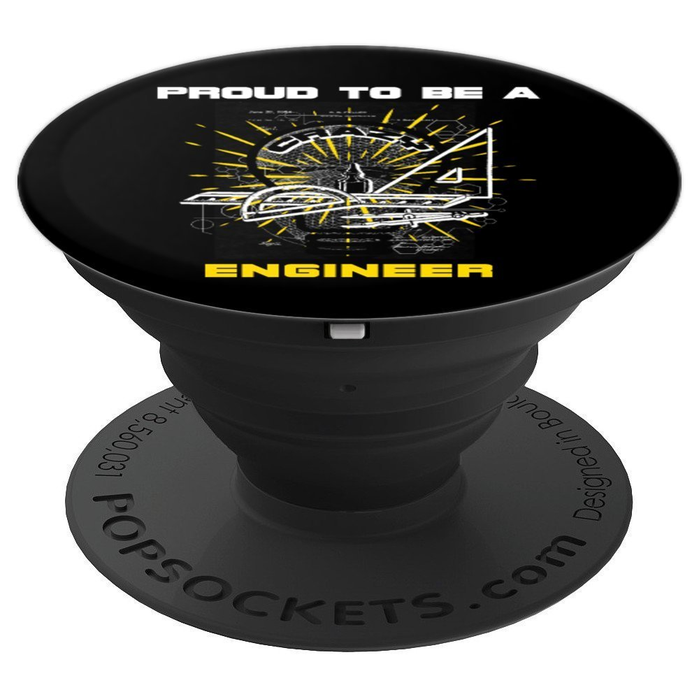 Proud To Be A Crazy Engineer Light Bulb Funny - PopSockets Grip and Stand for Phones and Tablets