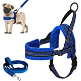 Lukovee Walking Dog Harness and Leash, Heavy Duty Adjustable Puppy Harness Soft Padded Reflective Vest Harness Anti…