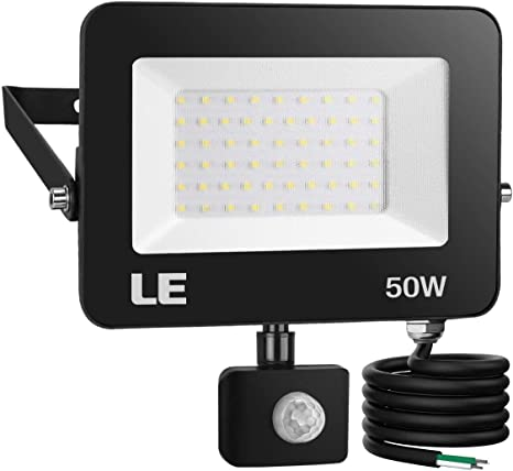 Amazon Com Le 50w 5000lm Led Security Lights Motion Sensor Light Outdoor Super Bright Flood Light With Photocell Daylight White 5000k Etl Listed Waterproof Wall Mount Floodlight For Backyard Driveway Garage Home Improvement