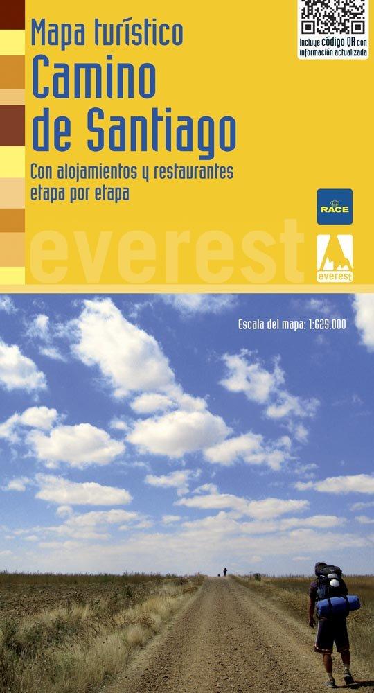 Mapa turístico del Camino de Santiago: Con alojamientos y restaurantes etapa por etapa Mapas turísticos/serie amarilla: Amazon.es: Cartografía Everest: ...
