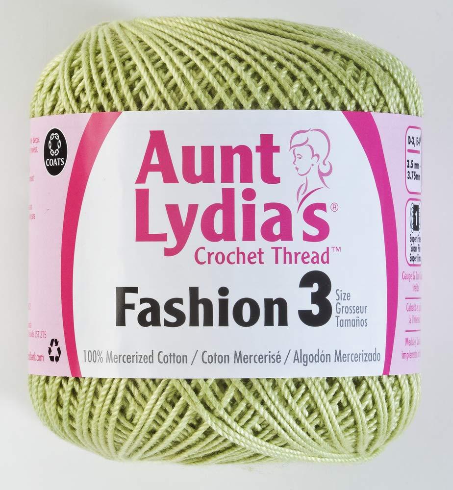 Coats Crochet Aunt Lydia's Fashion Crochet, Cotton Size 3, Scarlet Coats & Clark 182.0006