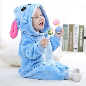 Y-BOA Pyjama Ensemble de Pyjama Dors Bien Enfant B/éb/é Combinaison Hiver Forme Animal D/éguisement Stitch Bleu 0-3mois