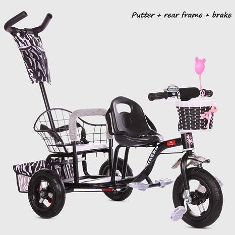MRXUE Bicicleta Doble Triciclo de los niños Multi-función ...