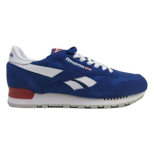 61ed5ee5d28 Reebok Men s Classic Leather Clip Trainers Running Shoes - BS9273 - Blue  (8.5 UK)