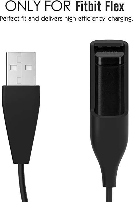 Color: Black Lysee Mobile Phone Flex Cables USB Charging Cable Replacement Accessories Charger Compatible For FIT BIT Smart Charging Cable