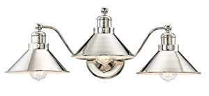 "Kira Home Welton 25.5"" Modern Industrial 3-Light Vanity/Bathroom Light, Polished Nickel Finish"