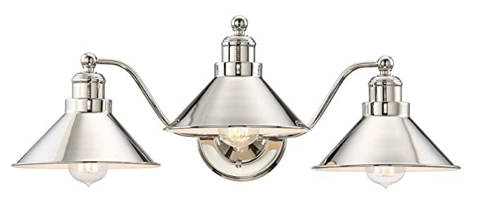 Kira Home Welton 25.5u0026quot; Modern Industrial 3 Light Vanity/Bathroom Light,  Polished