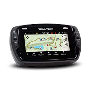 Trail Tech 922-112 Voyager Pro GPS Kit with Digital Gauge Trail Maps 4-Inch TFT LCD Touch Screen, Buddy Tracking, Handsfree Bluetooth