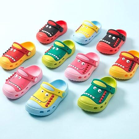 Kiminana Boys Girls Cartoon Clogs Slippers,Kids Non-Slip Slides Sandals Clogs Slip-on Beach Pool Shower Slippers Shoes