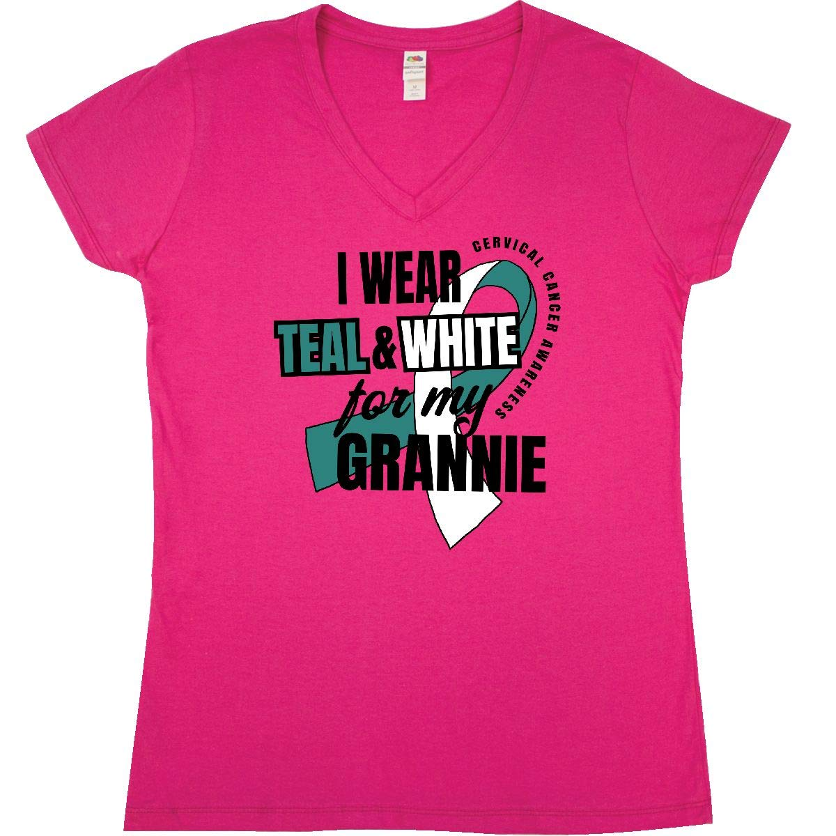 inktastic I Wear Teal and White for My Grannie Cervical Cancer Baby T-Shirt