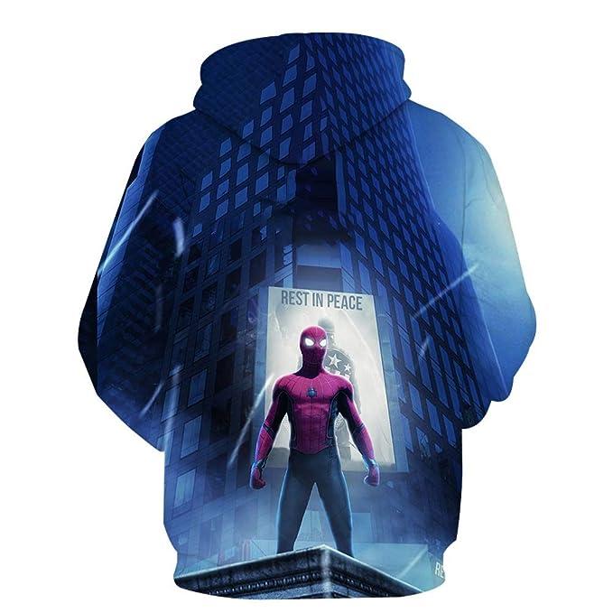 ZYOLLO Hombres Unisex Sudadera con Capucha 3D Spiderman Colorido ...