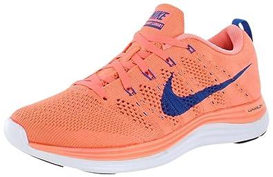 a4f9b77b3447 Nike Flyknit Lunar1+ Women Running Shoes Size 8.5 Atomic Pink Game  Royal White