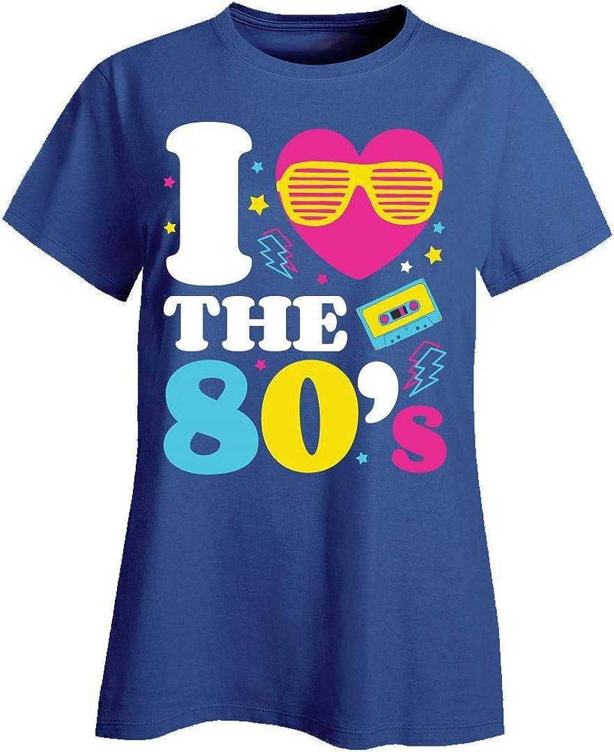 Esprexx 80s 1980 Retro Neon I Heart The 80s Eighties T-Shirt Kids T-Shirt