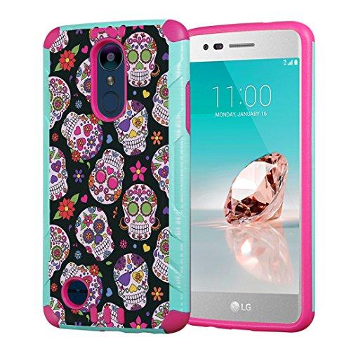 Capsule Case Compatible with LG Aristo 2 (X210), Aristo 2 Plus, Fortune 2, Rebel 3, Risio 3, Tribute Dynasty, Zone 4, K8, K8 Plus 2018 [Slim Combat Case Mint Pink] ()