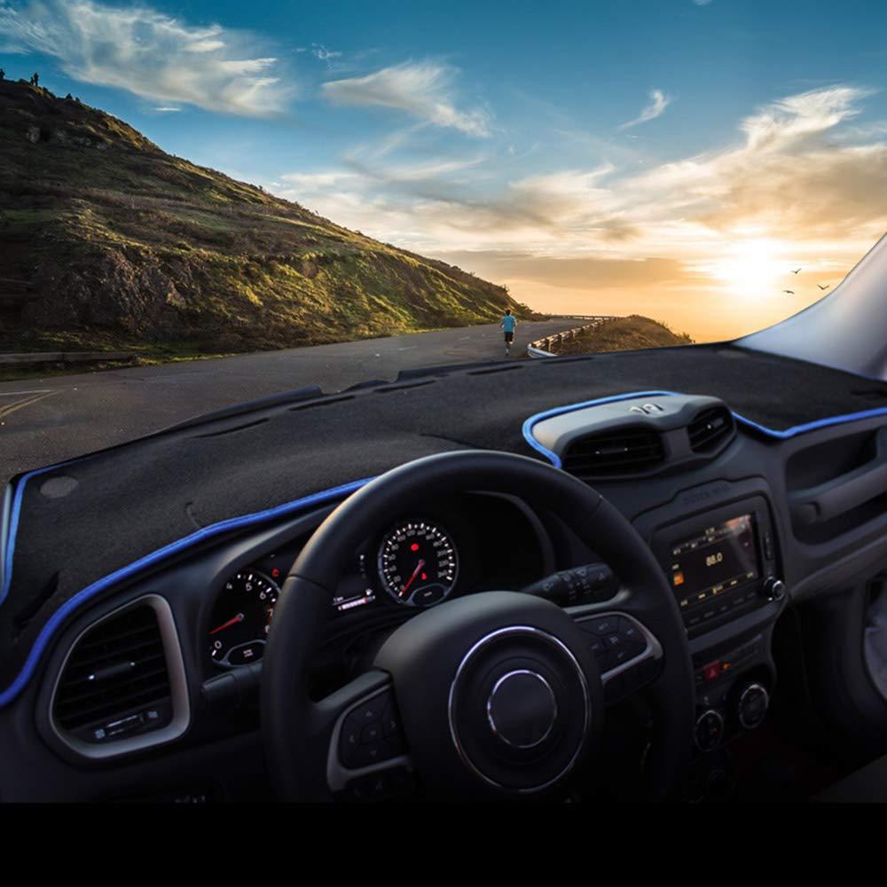 Auto Armaturenbrett Abdeckung Pad vermeiden Lampe Pad Instrument Plattform Schreibtisch Teppich Zubeh/ör JNXZHQC /F/ür Jeep Renegade 2016 2017 2018 2019