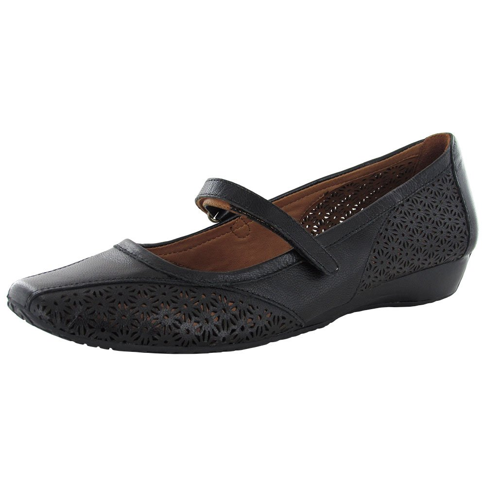 Gentle Souls Women's Irene Mary Jane Flat, Black, 7.5 M US