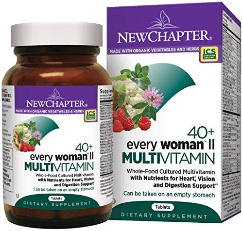 Organic Women's Multivitamin, New Chapter Every Woman II 40+, 96 ct