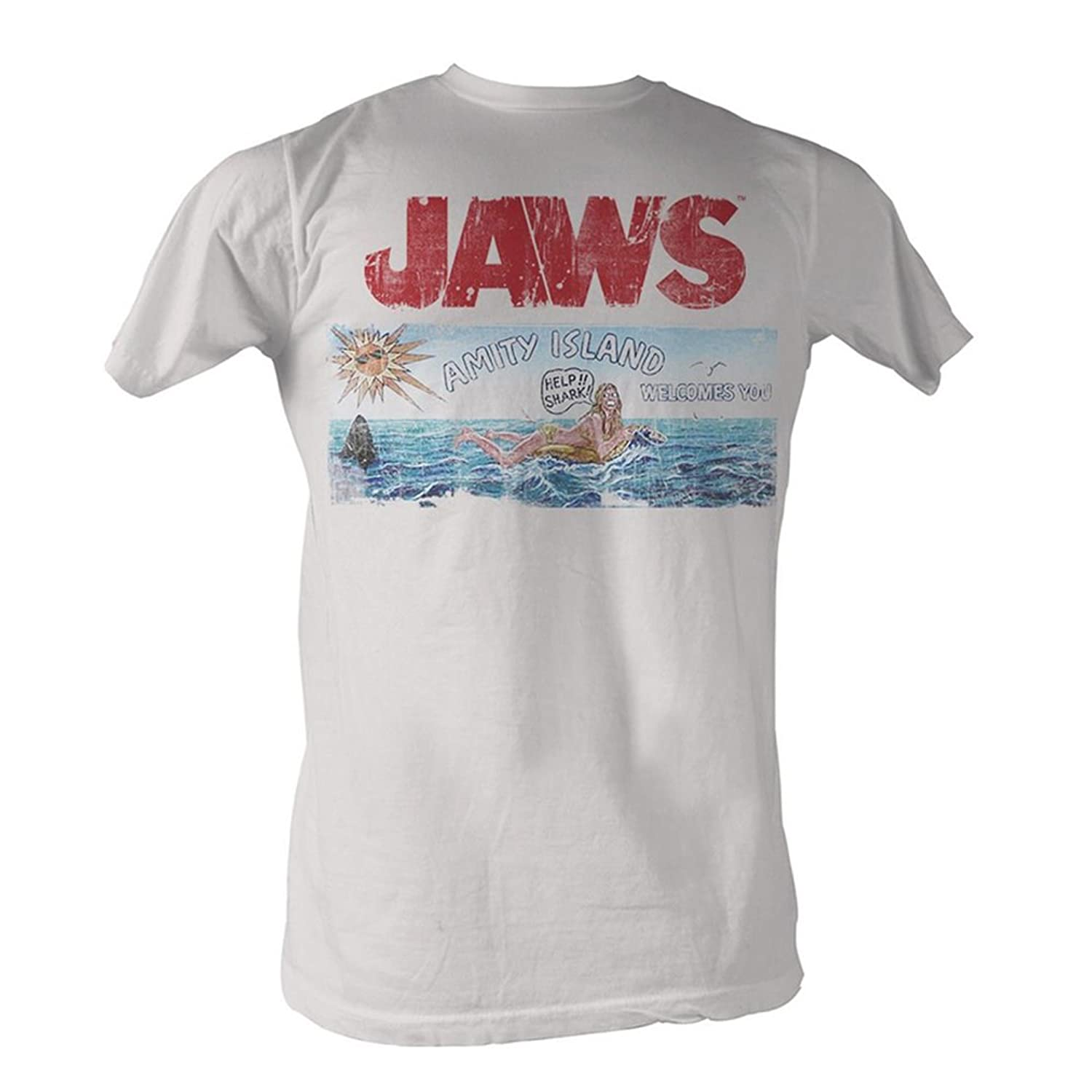 Jaws Amity Island Welcomes You WHITE T-Shirt