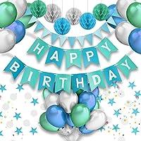 PushingBest decoración cumpleaños, 6 pañuelo de Papel, Pompones