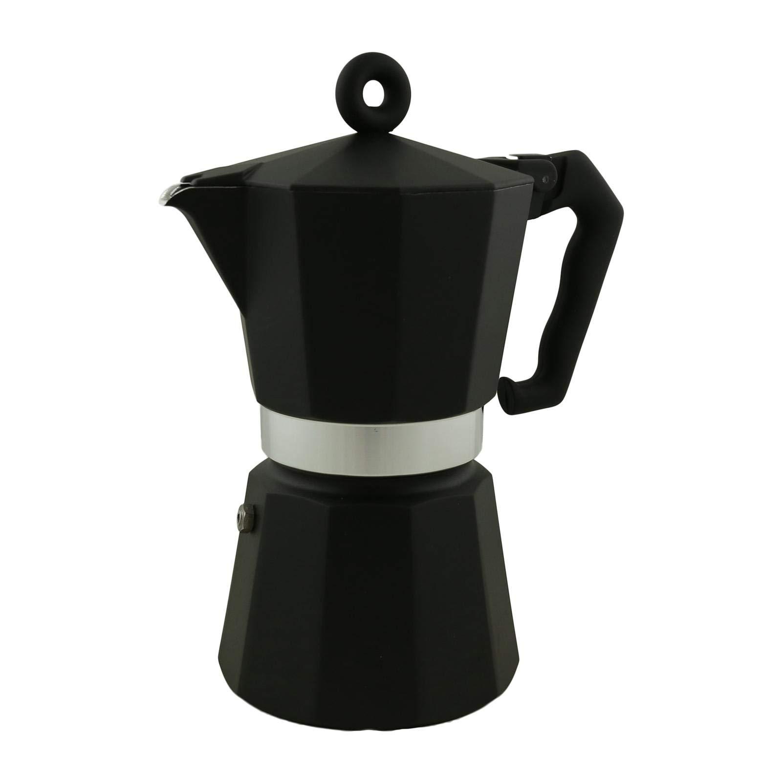 Illy Coffee Moka Pot, 6 CUP, Black