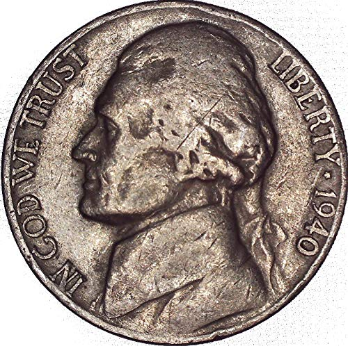 (1940 Jefferson Nickel 5C Very)