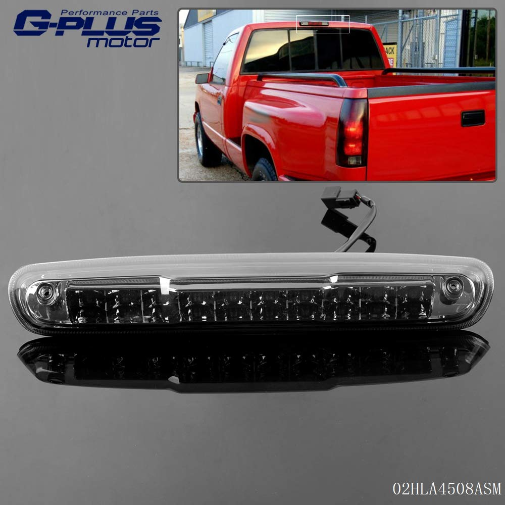 Smoke LED 3rd Third Brake Light High Mount Cargo Lamps For 07-13 Chevy Silverado GMC Sierra 1500 2500 3500