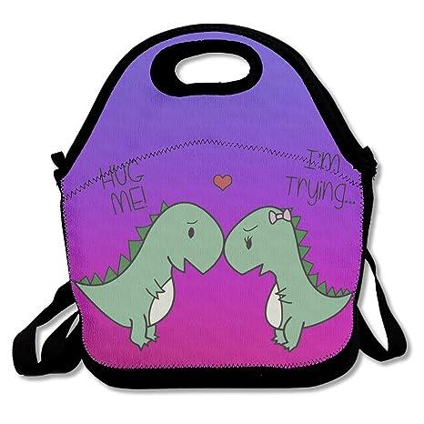 Dinosaurio Dinosaurios Hug Me morado bolsas de almuerzo con ...