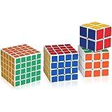 Shengshou - Cubo di Rubik, confezione da 4 pezzi, diverse dimensioni