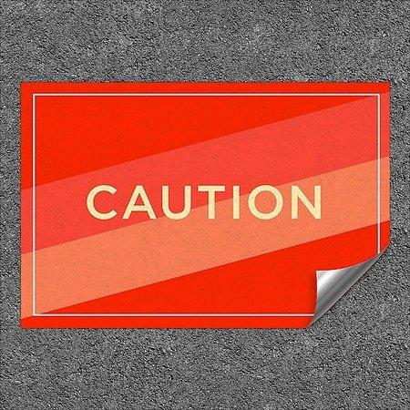 CGSignLab |''Caution -Modern Diagonal'' Heavy-Duty Industrial Self-Adhesive Aluminum Wall Decal | 36''x24''