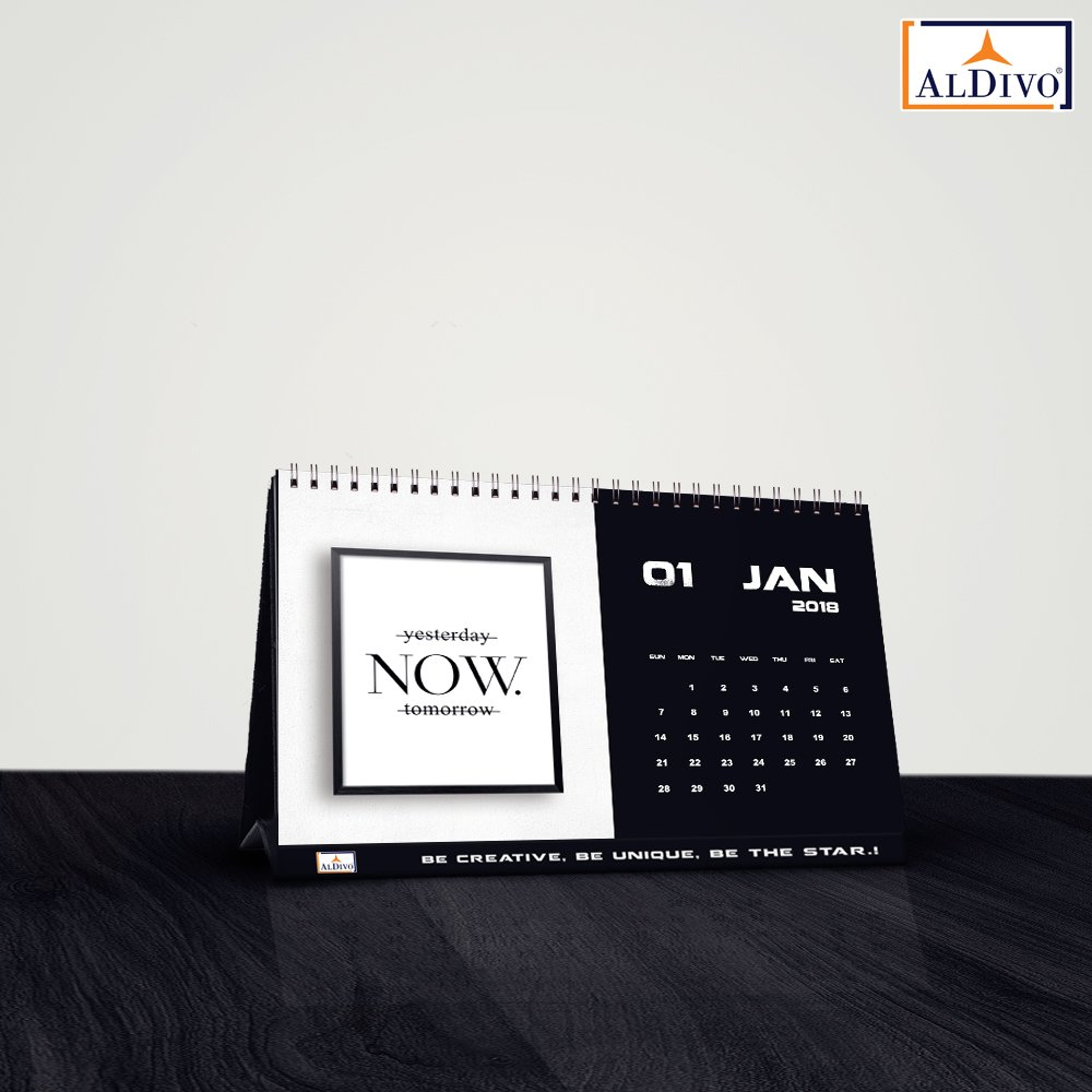 Wordwin Calendar 2018 | 2018 Calendar | Table Calendar 2018 | Desk Calendar  2018 (Size