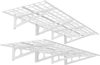 2-Pack Fleximounts 2x6-Foot Steel Wall Shelf