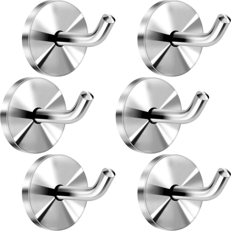 LingYe 6 pezzi in acciaio inox a muro accappatoi ganci da bagno ganci asciugamano ganci appendiabiti in acciaio inox bagno e porta asciugamani da cucina L11