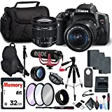 Canon EOS Rebel T6i DSLR Camera 18-55mm Lens, Hot Shoe Mounted Video Microphone, Carrying Case, Tripods Video Bundle