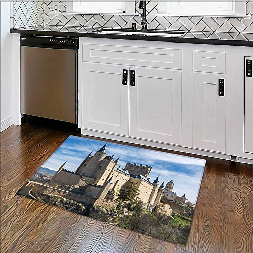 Thick Soft Plush Living Room Rug the alcazar of segovia spain Easy Clean Resistant W30'' x H18'' by also easy