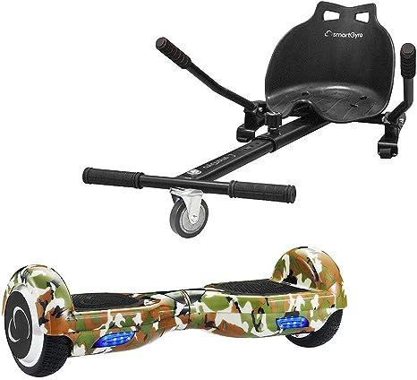 SMARTGYRO X2 Raptor + GO Pack Patinete Eléctrico + Kart, Certificado UL, Batería de Litio, Cómodo y Ergonómico, Unisex Niños, Negro, Talla Única: Amazon.es: Deportes y aire libre