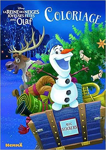Coloriage Anna Elsa Et Olaf.Disney La Reine Des Neiges Joyeuses Fetes Avec Olaf Coloriage Avec