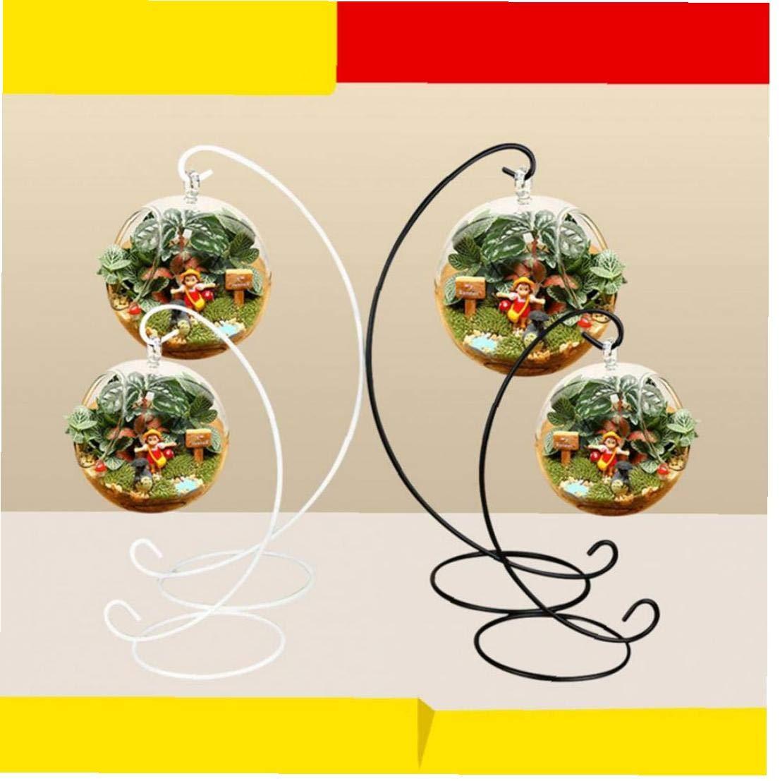 Angoter 1PCS Spirale Display Stand Ferro attaccatura del Supporto di cremagliera per Terrarium pianta di Aria Strega Palla di Vetro Globo di Natale Wedding Decor Colore Casuale