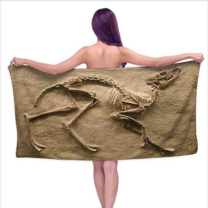 5a1596e5aee Amazon.com  Microfiber Beach Towel, Fossil