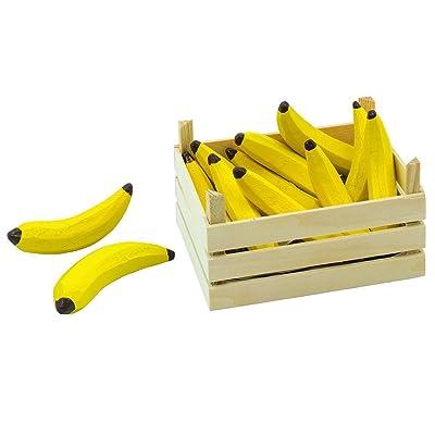 Goki 2040782 - Jeu D'imitation - Commerçant - Bananes Dans Une Caisse De Fruits